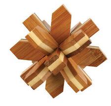 casse tete en bois bambou, modèle Snowflake, difficulté 4 etoiles