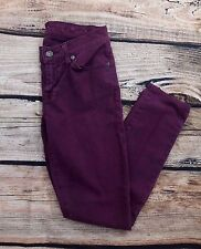7 FOR ALL MANKIND Gwenevere Purple Skinny Jeans Size 24