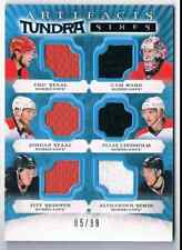 2015-16 ARTIFACTS TUNDRA SIXES ÉRIC STAAL, CAM WARD, JORDAN STAAL, ELIAS
