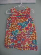 Hanna Andersson Multi-Color Floral Cotton Dress - Size 80 (18 Months - 2T)