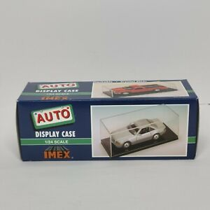 IMEX Auto Model Display Case 1/24 Scale Crystal Clear Item No. 2510 Black Base