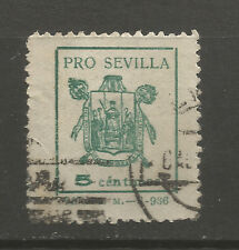 Spain 1937 Civil War Pro Seville 5cts local stamp