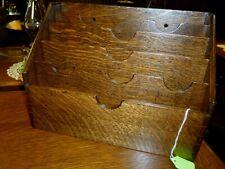 Antique Oak File Desk top or wall hang refinished quarter sawn 1900's