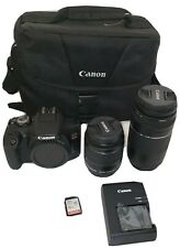 Canon EOS Rebel T7 EF18-55mm + EF 75-300mm Digital SLR Camera Premium Kit