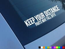 Mantenga su distancia partes pueden caen Gracioso Auto Adhesivo Calcomanía van Rata DUB VW