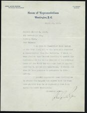 """John Jacob Rogers signed letter Mass Rep. """"The father of the Foreign Service"""""""