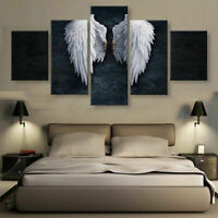 BANKSY ANGEL WINGS Print Picture Art Pictures Canvas Wall Art - Various Sizes