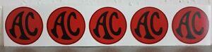 AC Ace, Bristol, Greyhound Cobra Aufkleber ROT Sticker 50 mm red