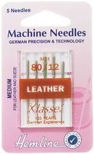 Couture Machine Aiguille - Klasse CUIR aiguille 80/12 - Paquet 5