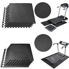 Large Black Eva Interlocking Soft Mat Foam Exercise Gym Garage Office Floor Tile