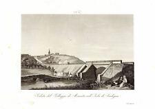 MONASTIR MURISTENIS CAGLIARI SARDEGNA- Incisione Originale 1800