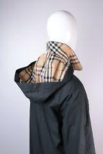 Women's Burberry London Black Cotton Hooded Coat Size XS