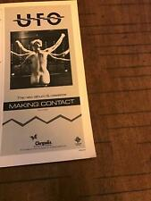 1983 Vintage 5.25X11 Album Promo Print Ad For Ufo Making Contact