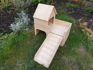 Tortoise House Castle Shelter two tiered Hideout small animal Hideaway Hutch