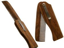 Dr.Dittmar Wooden Comb for Men Men's Folding Pocket walnussbaumholz