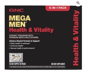 GNC Mega Men Health and Vitality Vitapak Program - 30 Pack