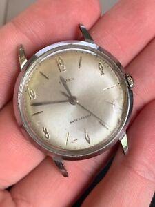 Vintage Timex Marlin Series Silver Mechanic Men's Watch Parts or Repair! NR