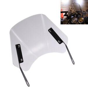 Clear Gray Motorcycle Windshield Wind Deflector Windscreen w/ Mount Universal