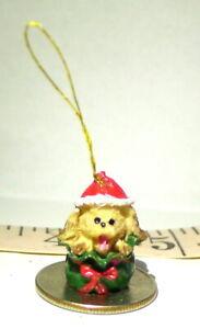 Brown Dog Christmas Miniature Christmas Ornament