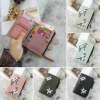 1 Pcs Wallet Women Coin Bag PU Leather Bifold Small Handbag Purse t
