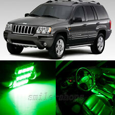 Bright Green 16pcs Interior LED Light for 1998-2004 Jeep Grand Cherokee