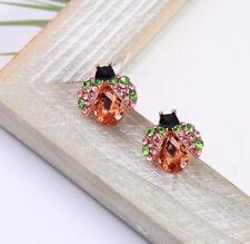 BJ New woman crystal Alloy rhinestone Beetle stud earrings ear Fashion Jewelry