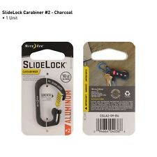 Nite Ize S-Biner Aluminum SlideLock Carabiner Size 2 Charcoal