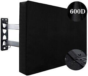 """Waterproof TV Cover Outdoor 30""""-65"""" Dustproof TV Screen Protector w Bottom Cover"""