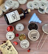 Make your Own Compound Gin Kit gift inc. Juniper, Flavours & Instructions.