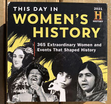 This Day in Women's History 2021 Desk Boxed Calendar Women and Events History
