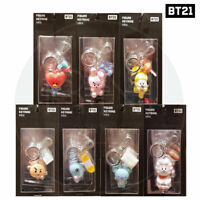 BTS BT21 Official Authentic Goods Figure Keyring Mini + Tracking Number