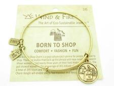 Wind and Fire Born To Shop Charm Wire Bangle Stackable Bracelet Made In USA Gift