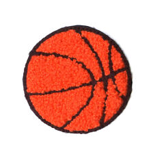 """Basketball - Sports Patch -  Chenille & Embroidered Iron On Patch - 2 3/8"""" (6cm)"""