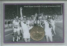 West Ham United los hierros Vintage F.A Copa Final Ganadores Retro Moneda Conjunto de Regalo 1980