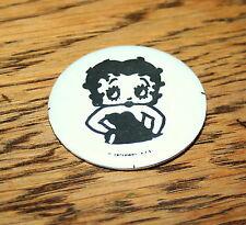 Rare Vintage Kfs Betty Boop Hip Comic Collectible Button Pin 1970s New Nos