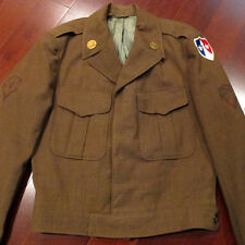 VINTAGE POST WW2 UNIFORM US ARMY DRESS WOOL 1950s MEDICAL SUPPORT SIZE 36
