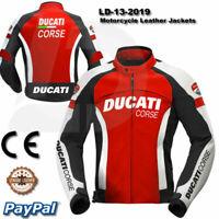Men Ducati motorcycle leather racing jacket LD-12-2019 ( US 38-48 )
