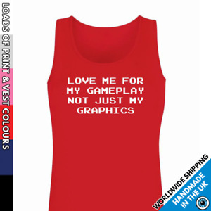 Ladies Love Me For My Gameplay Vest • Tank Top Secret Santa Gift Gamer Lady Girl