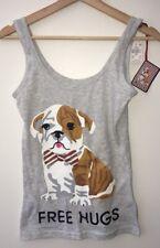 Primark ladies Love to Lounge Bull the Bull Dog cami vest /& short set pjs BNWT L