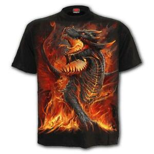 SPIRAL DIRECT DRACONIS - T-Shirt Dragons/Flames/Wings