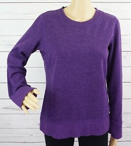 Tek Gear Sweatshirt Womens Medium M Purple Solid Long Sleeve Cotton Pullover