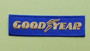 GOODYEAR Tyre Motor Racing / Motorsport Patch Sew / Iron On Badge