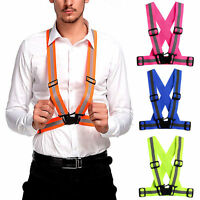 Adjustable Reflective Safety Security High Visibility Vest Gear Stripes Jacket