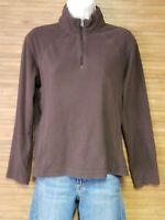 Columbia Brown Half Zip Fleece Lightweight Sweatshirt Womens Size Medium M