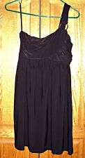 sz.small womens black one shoulder formal cocktail evening party clubwear dress