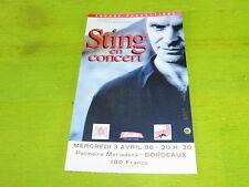 STING - 1996 !! RARE FRENCH TICKET STUB !!TICKET CONCERT!!!!!
