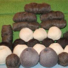 Natural goat fluff fuzzyCashmere Mohair fluff Fur DOWN Organic Skein