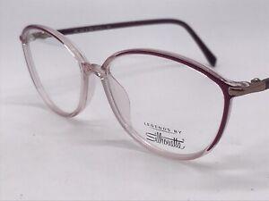 Silhouette Legends Spx 3502 6082 Purple Transparent High End 53-14 Medium + Case