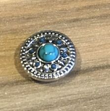 Snap-it Jewelry Blue turquoise button interchangeable 12mm NIP