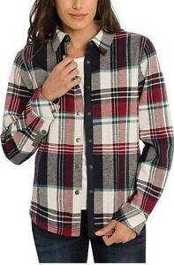 Orvis Womens Fleeced Lined Flannel Pinnacle Shirt ,XL